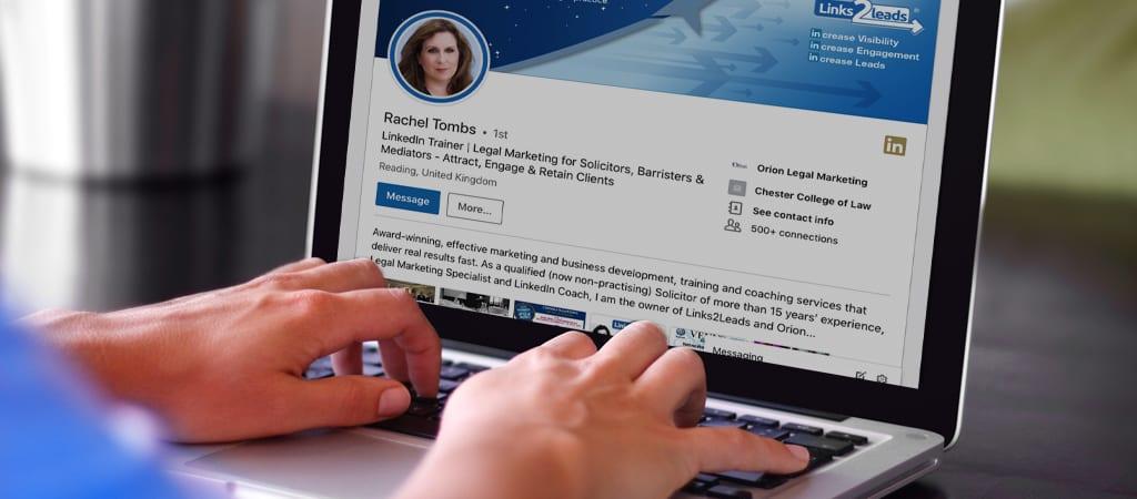 Searching up Rachel Tombs LinkedIn