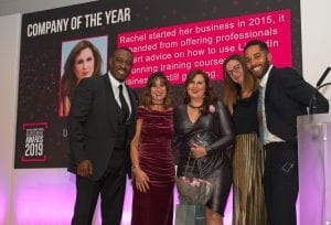 Against Breast Cancer Achievement Awards - Company of the Year 2019 - Links2Leads and Rachel Tombs